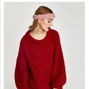 Zara BRAIDED CHENILLE HEADBAND
